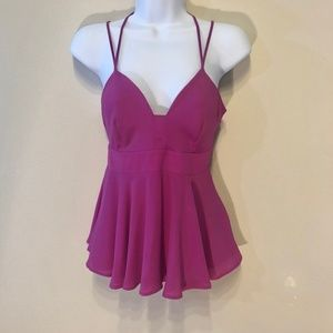 Hot Pink Express Strappy Tank Top